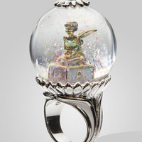 Disney Couture Tinkerbell Snow Globe Ring