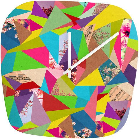 Colorful Thoughts - Modern Clock by Bianca Green | DENY Designs