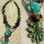 Handcrafted Festoon Necklace - Chunky Treasures of the Sea