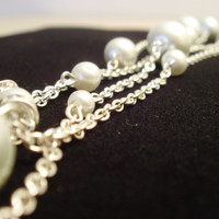 Extra Long Pearl & Chain Necklace