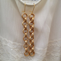 Bold Gold Chain Earrings