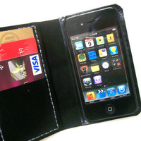 iPhone 4 Wallet Case with Bumper attachment --Black-UNIQUE