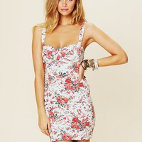 Free People Printed French Terry Slip