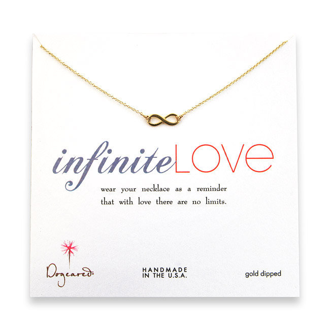small gold dipped infinite love necklace : Dogeared Jewels and Gifts