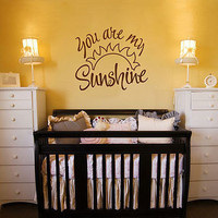 'you are my sunshine' wall quote by aijographics | notonthehighstreet.com