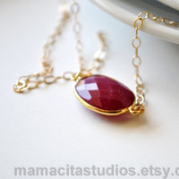 Ruby Necklace, Ruby Jewelry, July Birthstone Jewelry