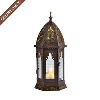 Bronze Metal Cathedral Lantern at Kirkland's