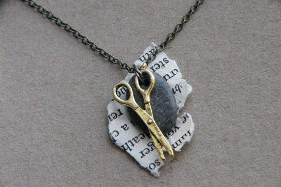 Rock Paper Scissor Necklace