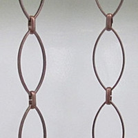 Antique Copper Elliptical Chain Earrings