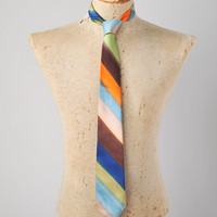 Vintage Men's Rainbow Dyed Silk Necktie - Made in Italy