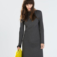 Seamed boat neck dress