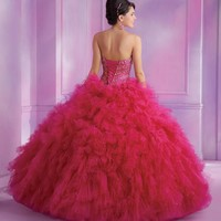 2014 Vizcaya Quinceanera Beaded Dress 89008