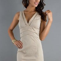 Elegant Gray A-line Straps Cotton Cocktail Dress-$95.97-ReliableTrustStore.com