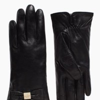 Kate Spade Leather Gloves Bow Gloves