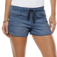 Juicy Couture Distressed Knit Jean Track Shorts - Women's
