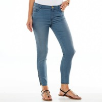 Juicy Couture Distressed Skinny Crop Knit Jeans - Women's