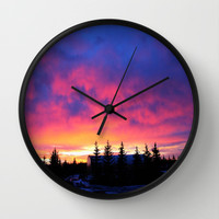Candy Skies at the Farm Wall Clock by 2sweet4words Designs | Society6