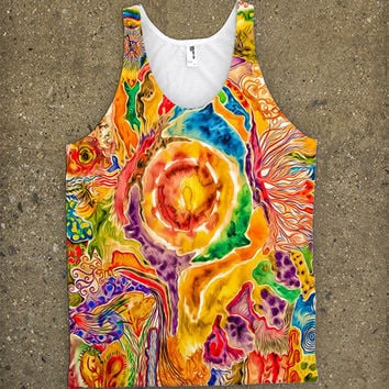 Psychedelic Colors Dream World Tank Top