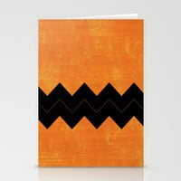 Halloween Chevron Stationery Cards by Kat Mun | Society6