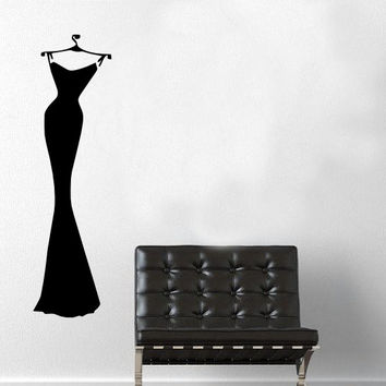 Sexy Black Dress Wall Decal - Home Decor - Closet - Bedroom - Dressing Room - Gift Idea - Girls Room