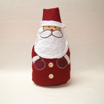 Santa Claus  Pillow Christmas Ornament  Holiday Decoration