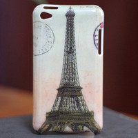 Eiffel Tower Hard Cover Case for Apple iPod Touch 4 4gen 4TH