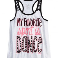Printed Back Dance Tank
