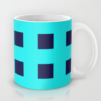 Cross Squares Navy Turquoise Mug by Beautiful Homes
