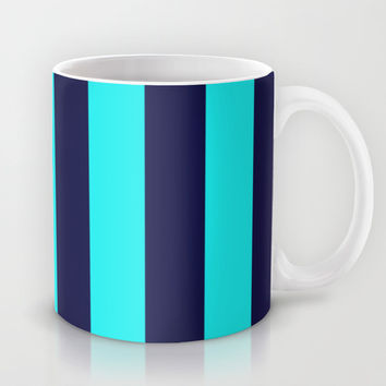 Stripe Vertical Navy Turquoise Mug by Beautiful Homes