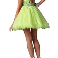 Angel Bride Mini A-Line Sweetheart Tulle Party Homecoming Dresses for Juniors- US Size 4