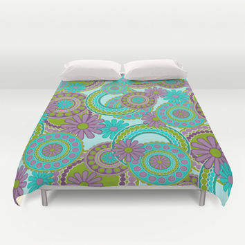 Pop Art Paisley Duvet Cover by pugmom4 | Society6