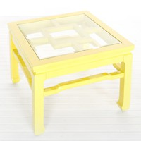 Worlds Away Wangright Yellow Lacquer Cocktail Table - Worlds-away-wangright-y  | Candelabra, Inc.