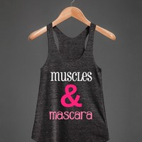 Muscles & Mascara-Female Athletic Tri Black Tank