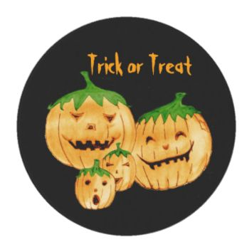 Incorrigible Pumpkins, Trick Or Treat Edible Frosting Rounds