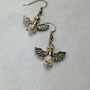 Guardian Angel Earrings in white , gold and silver , Angel Earings