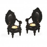 Wake Up Frankie - Royal Throne Tealight Holder (Set of 2) - White