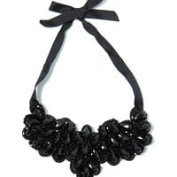Jewelry Heist Ribbon Bib Necklace