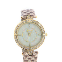 Quilty Feeling Rhinestone Watch