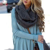 Forever & Infinity Gray Scarf – Dress Up