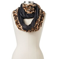 Croft & Barrow Leopard Cable Knit Infinity Scarf
