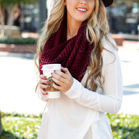Everything But Basic Cranberry Scarf – Dress Up
