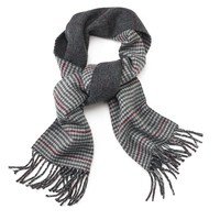 Chaps Windowpane & Houndstooth Reversible Scarf - Men