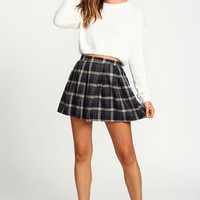 Zip Up Plaid School Girl Skirt - LoveCulture