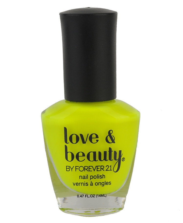 Neon Yellow Nail Polish from Forever 21 | Beautify.