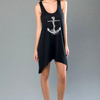 Refuse to Sink Anchor Nautical Beach Coverup
