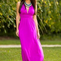Luxe Be A Lady Maxi Dress-Amethyst
