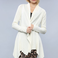 High-Low Knit Cardigan