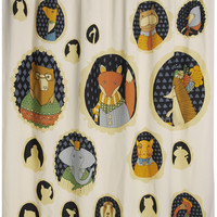 ModCloth Woodland Creature Fun and Frames Shower Curtain