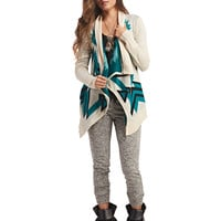 Bold Tribal Print Blanket Cardi | Wet Seal