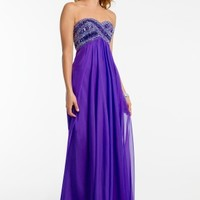 Strapless Beaded Empire Dress